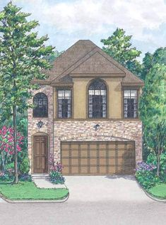 Small Home Plan, Small House Plans, Affordable Small House Plans – Preston Wood & Associates Garage Plans With Loft, Garage House Plans, Cottage House Plans, Craftsman Cottage, Build House, Two Story House Plans, Small House Plans, Garage Apartment Plans, Garage Apartments