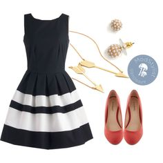 """""""A Dreamboat Come True Dress in Navy"""" by modcloth on Polyvore"""
