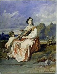 Euterpe - The Muse of Lyric Poetry or Music ~ Called the giver of delight, Euterpe, the muse of music, is often portrayed holding a flute.