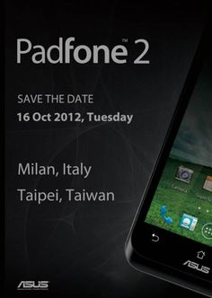 ASUS to launch Padphone 2 this October 16, 2012