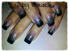 I LOVE my glitter fade nails done by Christina another nail tech in the shop!!