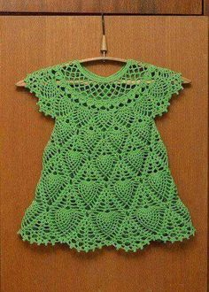This Pin was discovered by eli You can do this by examining the image of the dress. It is a very simple and beautiful model. Crochet dress for a girl Crochet Dress Girl, Crochet Baby Dress Pattern, Baby Dress Patterns, Baby Girl Crochet, Crochet Baby Clothes, Crochet Blouse, Knit Crochet, Crochet Dresses, Crochet Toddler