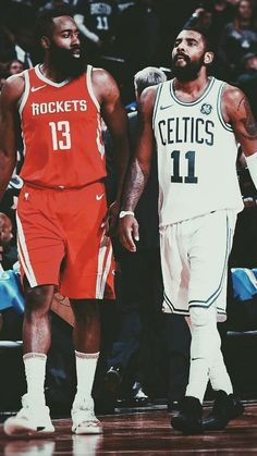 James Harden and Kyrie Irving. Two Legends Side by Side. I don't think I can handle the raw talent and sheer dedication oozing out of this picture. Basketball Shoes For Men, Love And Basketball, Basketball Legends, Basketball Pictures, Irving Wallpapers, Nba Wallpapers, Basketball Scoreboard, Basketball Players, All Nba Players