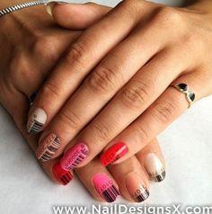 barcode nail design