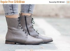 SALE 20% OFF Leather Boots Leather Booties Leather by BangiShop