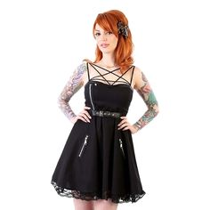 Pentagram Motorcycle Dress Women's by Lucky 13 - Hell's Boutique