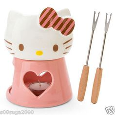 Hello kitty Cheese fondue set MIB MADE IN JAPAN F/S present SANRIO from JAPAN