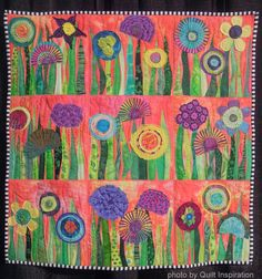 Bloooming beauties:  Fun flower quilts