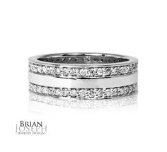 Here's a beautiful double row diamond eternity band.  Customize yours!