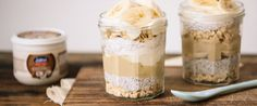 Tahini-banana overnight oats – recipe courtesy of Jalna