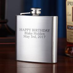 Traditional Stainless Steel Flask ($25) ❤ liked on Polyvore featuring home, kitchen & dining, bar tools, personalized flask, stainless flask, stainless steel hip flask, monogrammed flask and liquor flask