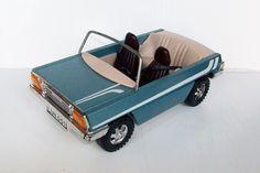 VINTAGE LUNDBY DOLLS HOUSE CAR WOODEN SILVER BLUE | eBay