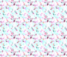orchid watercolor triangles // small fabric by ivieclothco on Spoonflower - wallpaper for kitchen?