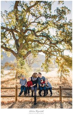 Thousand Oaks Ranch Family Portrait by Chelsea Elizabeth Photography Rustic oak tree ranch
