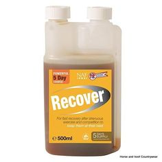 NAF Recover An antioxidant formula for relaxed muscles Ideal after strenuous exercise and competition to support the horse rsquo s natural recovery