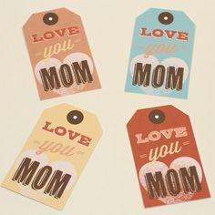 des tags pour vos cadeaux et vos créations sur les mamans et les enfants, quelque soit leur âge... il y a une carte assortie dans le téléchargement...