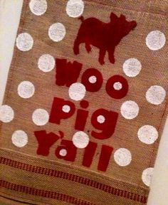 Arkansas Razorbacks HOG FAN Burlap garden flag by ELouiseBoutique, $22.00