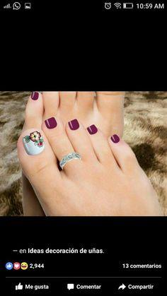 Pedicure Designs, Toe Nail Designs, Acrylic Nail Designs, Uk Nails, Feet Nails, Hair And Nails, Pretty Toe Nails, Cute Toe Nails, Finger Nail Art
