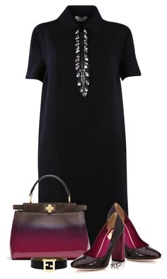 """Fendi Shirt Dress"" by nuria-pellisa-salvado ❤ liked on Polyvore featuring Fendi"