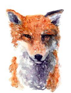 Fox - Print - 8 x 10 by SorchaMoon on Etsy https://www.etsy.com/listing/213727992/fox-print-8-x-10