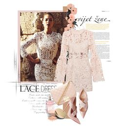 """""""Lovely lace Dress"""" by zeljanadusanic ❤ liked on Polyvore featuring Dolce&Gabbana, Forever 21, Elie Saab, Jane Iredale and lacedress"""