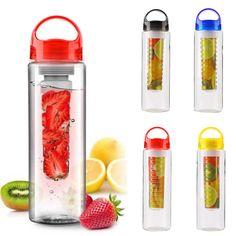 Portable 800ML cap Fruit Infusing Infuser Water Bottle with box Sports Health Lemon Juice Make Bottle Drop Shipping Wholesale