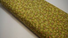 Quilting Fabric Green Fabric Floral Print Red by BlackBirdFabrics Red Rooster, Home Decor Fabric, Quilting Fabric, Green Fabric, Green Backgrounds, Small Flowers, Quilting Projects, Shades Of Green, Floral Prints