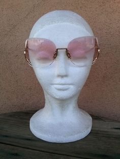 Vintage 1980s Sunglasses Rose Colored Amber Tinted 80s Glasses Martin Wells Princess 201668 - pinned by pin4etsy.com