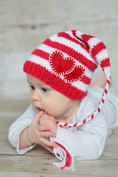 47864bd41c1 Items similar to Valentine s Baby Hat