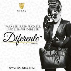 """""""Para ser irremplazable, uno sempre debe ser diferente"""" Coco Chanel #frase #quote #cita"""