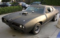 This is what i'm working with. 1968 Pontiac GTO primer black. Before tear down