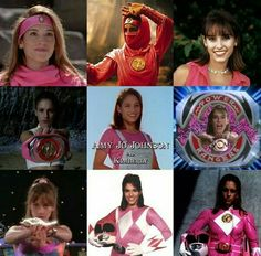 Amy Jo Johnson as Kimberly Power Rangers 1995, Original Power Rangers, Pink Power Rangers, Pink Ranger Kimberly, Kimberly Hart, Amy Jo Johnson, Power Rengers, Gymnastics Poses, Mighty Morphin Power Rangers