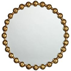 """Jamie Young Ball Chain 25 1/2"""" Round Wall Mirror -"""