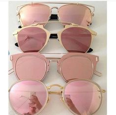fc66e6e93d07 Light pink 💗 Gold Sunglasses