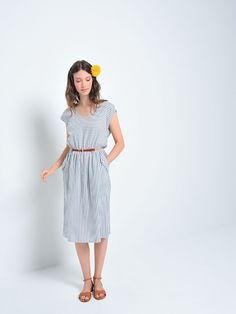 Des Petits Hauts Elmita Stripe Dress   Maze Clothing