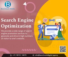 Leading SEO Company In Delhi - India. Benchmark Media Creators provide custom-tailored SEO Services to all sized businesses, around the world. #digitalmarketingagency #digitalmarketing #SEO #SMM #SMO #onlinemarketing #smallbusiness #onlinebusiness #ecommercebusiness #EmailMarketing #SMOServices #businessleads #FacebookAdvertising #brand #digitalservices #Digitalmarketingservices Digital Marketing Services, Seo Services, Email Marketing, E Commerce Business, Online Business, First Website, Delhi India, S Mo, Seo Company