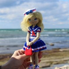 Amigurumi sailor girl doll. (Inspiration).♡