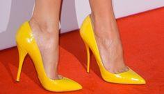 Alicia Vikander in Christian Louboutin 'Batignolles' Patent Leather Pumps