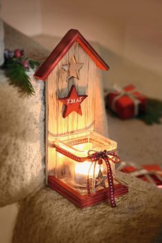 """Windlicht """"XMAS"""" – Keep up with the times. Christmas Rock, Christmas Crafts, Xmas, Wooden Crafts, Diy And Crafts, Valentines Day Decorations, Christmas Decorations, Pallet Pictures, Diy Wood Projects"""