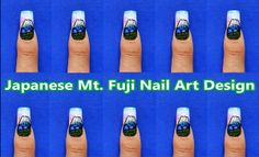 Japanese Mt Fuji Nail Art Design