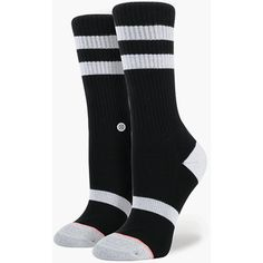 Stance Black Bird Everyday Tomboy Athletic Womens Socks ($12) ❤ liked on Polyvore featuring intimates, hosiery, socks, black, striped sports socks, black socks, black hosiery, sports socks and sport socks