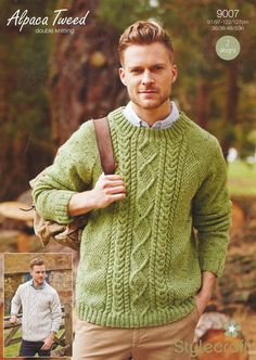 Men's Sweaters in Stylecraft <strong>спицами</strong> Alpaca Tweed DK - 9007. Discover more Patterns by Stylecraft at LoveKnitting. The world's largest range of knitting supplies - we stock patterns, yarn, needles and books from all of your favourite brands.