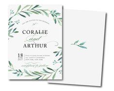 OLIVE BRANCH Invitation greenery invitationgreen wreath