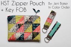 Zipper Pouch + Key FOB Tutorial by Jeni Baker, via Flickr @Jeni Baker