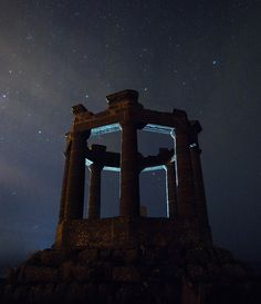 WW1 War Memorial  at Night - Stonehaven, Scotland