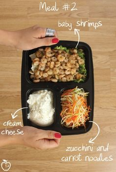 7 Days Of Healthy Meal Prep Ideas - Ready To Eat Meals and Protein On The Go With The Best Meal Containers - shrimps recipe