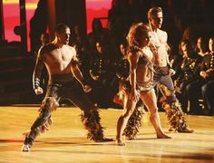 Dancing With The Stars: All-Stars Week 8 Tribal samba with Mark Ballas, Shawn Johnson and Derek Hough