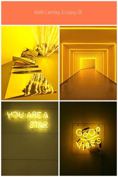 Keith Lemley, Ecstasy of Knowing installation #yellow neon