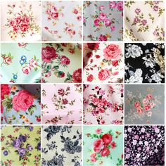 ROSES Fabric- 100% COTTON vintage FLORAL MATERIAL by the metre Fat Quarter in Crafts, Fabric | eBay