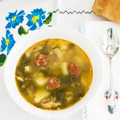 Caldo Gallego is the traditional soup of Galicia in the coastal northeast of Spain.